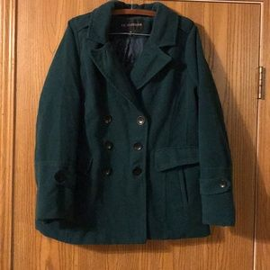 I.B. Diffusion Forest Green Pea Coat, 1X
